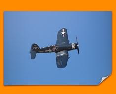 F4 Corsair Vought Plane Poster