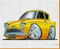 FORD Anglia Super Canvas Art Print