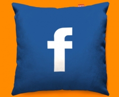 Facebook F Funky Sofa Cushion 45x45cm