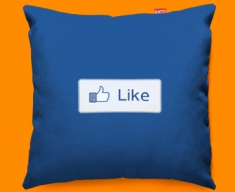 Facebook Like Funky Sofa Cushion 45x45cm