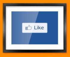 Facebook Like Social Networking Framed Print