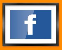 Facebook Logo Social Networking Framed Print