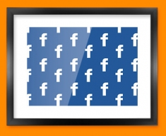 Facebook Pattern Social Networking Framed Print