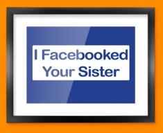 Facebook Sister Framed Print