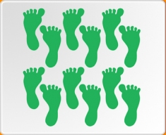 Feet Set Wall Sticker