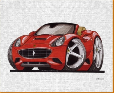 Ferrari California Canvas Art Print