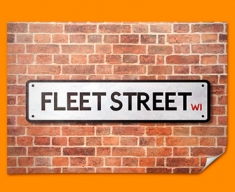 Fleet Street UK Street Sign Poster