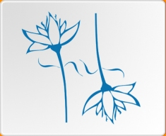 Flower 02 Twin Set Wall Sticker