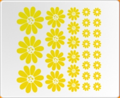 Flowers Sunflower Set Wall Sticker