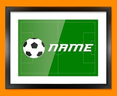Football Personalised Childrens Name Framed Print
