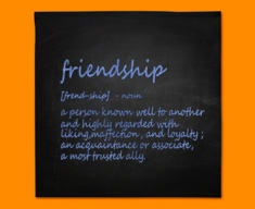 Friendship Definition Napkins (Set of 4)