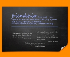 Friendship Definition Poster