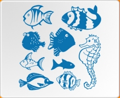 Fun Fish Set Wall Sticker