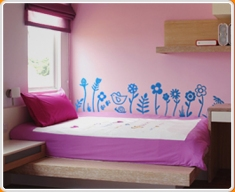 Fun Flowers Wall Sticker
