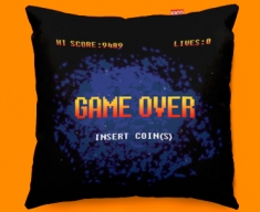 Game Over Screen Funky Sofa Cushion 45x45cm