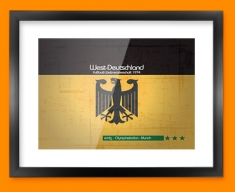 Germany 74 Flag Framed Print