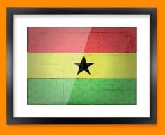Ghana Flag Framed Print