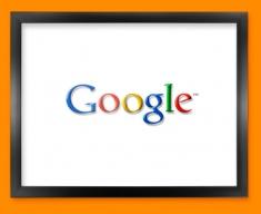 Google Logo Social Networking Framed Print
