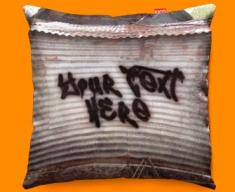 Graffiti Shed Personalised Funky Sofa Cushion 45x45cm