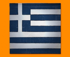 Greece Flag Napkins (Set of 4)