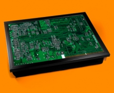 Green Circuitboard Cushion Lap Tray