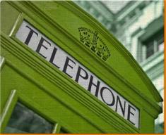 Green Phone Box Canvas Art Print
