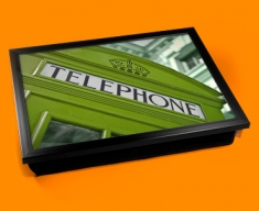 Green Phone Box Cushion Lap Tray