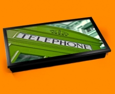 Green Phone Box Laptop Lap Tray