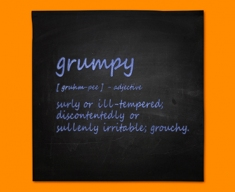 Grumpy Definition Napkins (Set of 4)