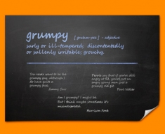 Grumpy Definition Poster