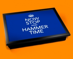 Hammer Time Keep Calm Cushion Lap Tray
