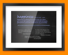 Happiness Definition Framed Print