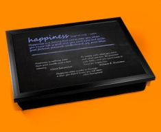 Happiness Definition Lap Tray