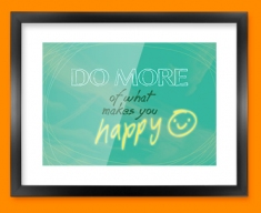 Happy Typography Framed Print