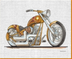 Harley Davidson Canvas Art Print