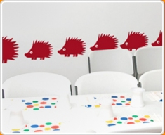 Hedgehogs Set Wall Sticker
