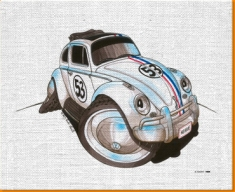 Herbie The Beetle Canvas Art Print