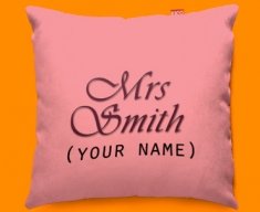 Hers Personalised Funky Sofa Cushion 45x45cm