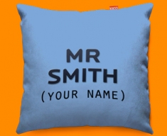 His Personalised Funky Sofa Cushion 45x45cm