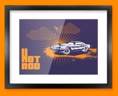 Hot Rod Framed Print