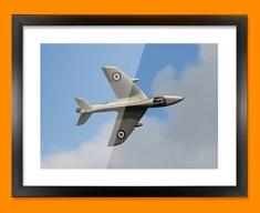 Hunter Hawker Plane Framed Print
