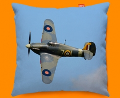Hurricane Hawker Plane Sofa Cushion