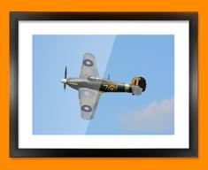 Hurricane Hawker Plane Framed Print