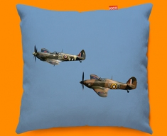 Hurricane Hawker and Spitfire Supermarine Plane Sofa Cushion