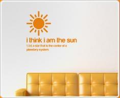 I am the Sun Quote Wall Sticker