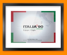 Italia 90 Flag Framed Print