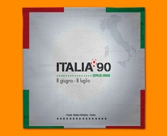 Italia 90 Flag Napkins (Set of 4)