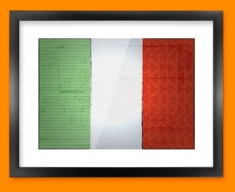 Italy Flag Framed Print