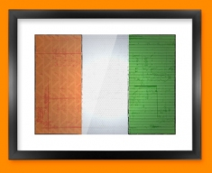 Ivory Coast Flag Framed Print