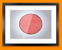 Japan Flag Framed Print